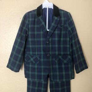 Boys holiday plaid suit!